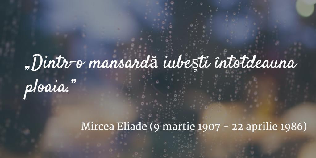 Eliade despre ploaie